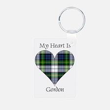 Heart-Gordon dress Aluminum Photo Keychain