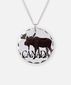 Canada Moose Souvenirs Necklace