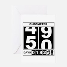 50th Birthday Oldometer Greeting Cards