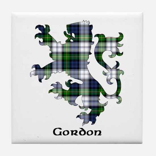 Lion-Gordon dress Tile Coaster