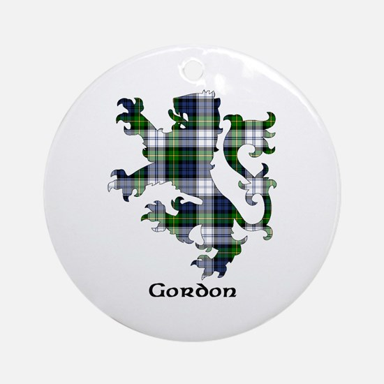 Lion-Gordon dress Round Ornament