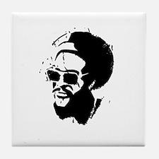 Afro Stencil Tile Coaster