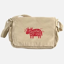 animals are friends not food Messenger Bag