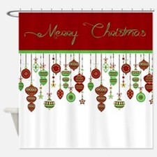 Merry Christmas ornaments Shower Curtain