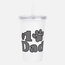 Number One Dog Dad Acrylic Double-wall Tumbler