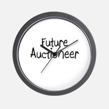 Future Auctioneer Wall Clock
