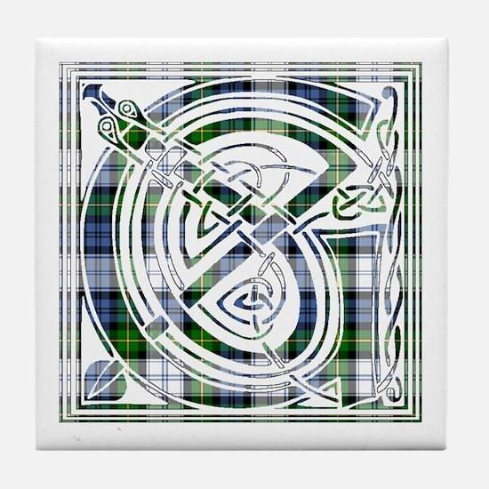Monogram-Gordon dress Tile Coaster