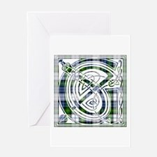 Monogram-Gordon dress Greeting Card