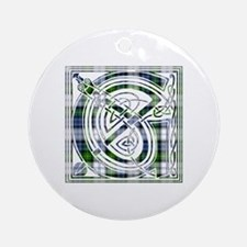 Monogram-Gordon dress Round Ornament