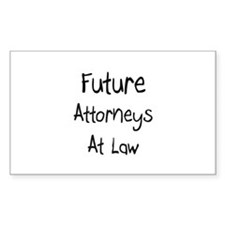 Future Attorneys At Law Rectangle Decal