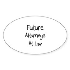 Future Attorneys At Law Oval Decal