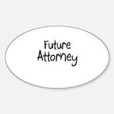 Future Attorney Oval Decal