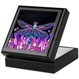 Dragonfly Square Keepsake Boxes
