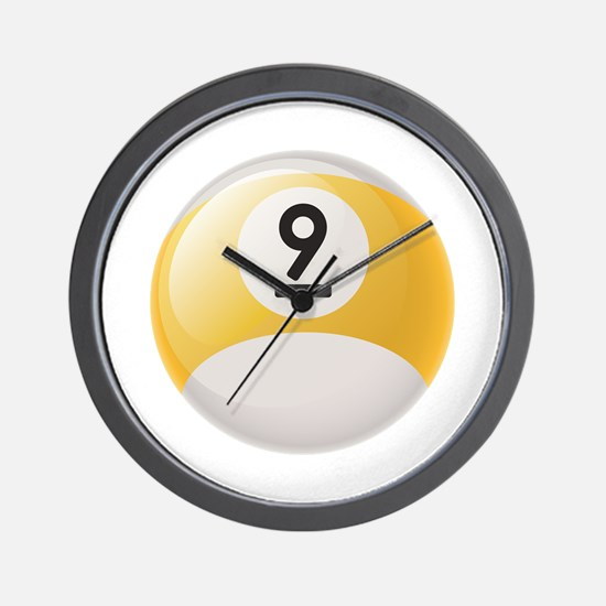 Billiard Pool Ball Wall Clock