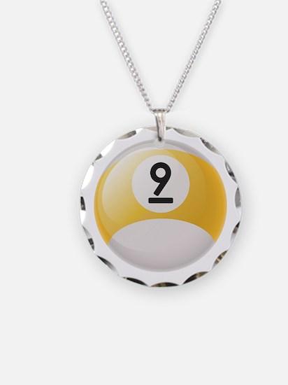 Billiard Pool Ball Necklace Circle Charm