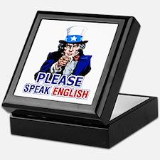 Please Speak English Keepsake Box