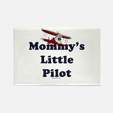 Mommy's Little Pilot Rectangle Magnet