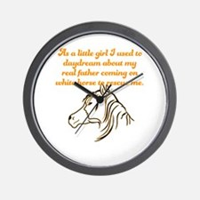 As a little girl I used to daydream abo Wall Clock