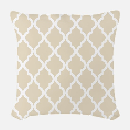 Moroccan Quatrefoil Pattern: M Woven Throw Pillow