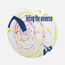 Kite Surfing The Universe Round Ornament