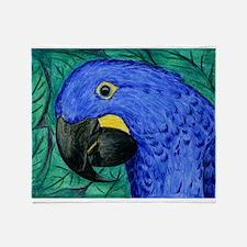 Hyacinth Macaw Throw Blanket