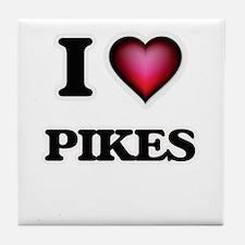 I Love Pikes Tile Coaster