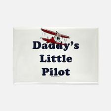 Daddy's Little Pilot Rectangle Magnet