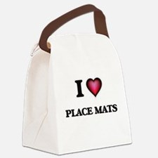 I Love Place Mats Canvas Lunch Bag
