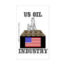 US Oil Rectangle Decal