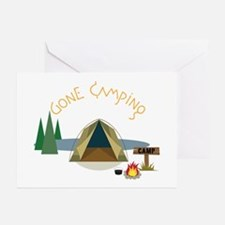 Gone Campin Greeting Cards