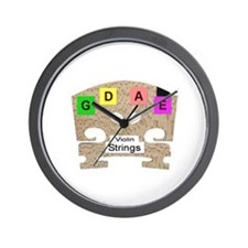 Violin or Fiddle Strings Wall Clock