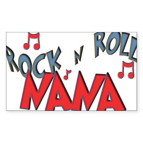 Rock n Roll Nana Rectangle Sticker