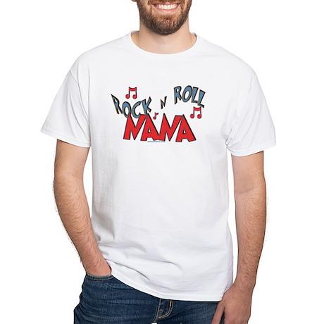 Rock n Roll Nana White T-Shirt