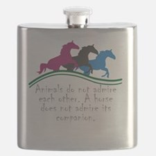 Animals do not admire each other. A horse do Flask