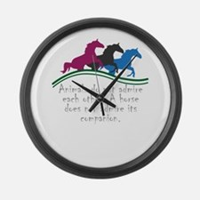 Animals do not admire each other. Large Wall Clock