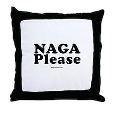 Naga Please Throw Pillow