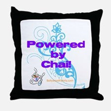 Powered by Chai! Throw Pillow