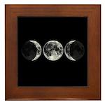 Triple Goddess Moons Framed Tile