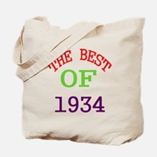 The Best Of 1934 Tote Bag