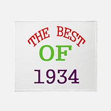 The Best Of 1934 Throw Blanket