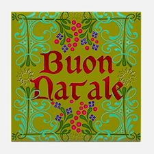 Italian Christmas Tile Coaster