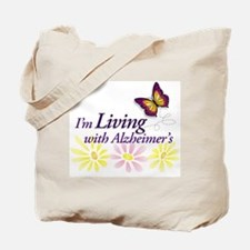 LIVING with Alzheimers Tote Bag