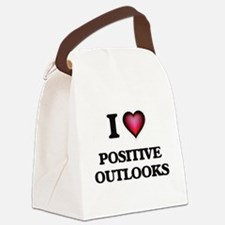 I Love Positive Outlooks Canvas Lunch Bag