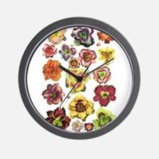 Assorted Daylilies Wall Clock