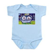 BICHON FRISE bath Design Infant Creeper