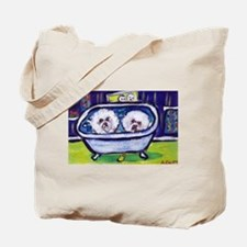 BICHON FRISE bath Design Tote Bag