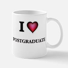 I Love Postgraduate Mugs
