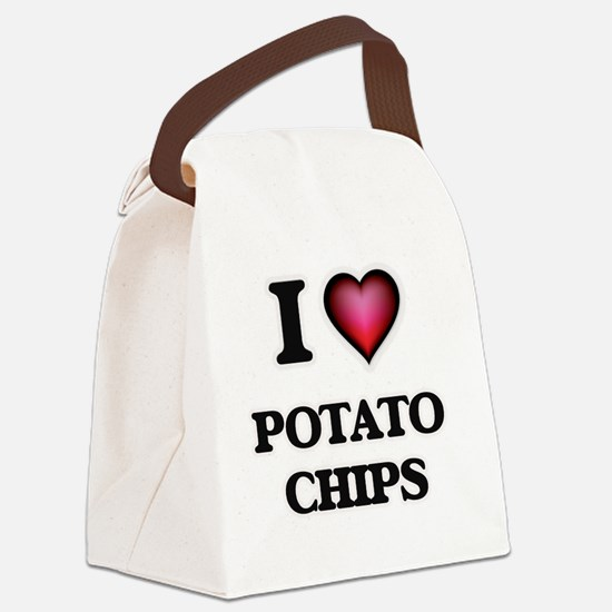 I Love Potato Chips Canvas Lunch Bag
