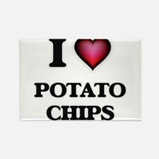 I Love Potato Chips Magnets