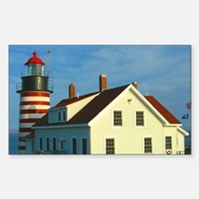 West Quoddy Head Light Rectangle Decal